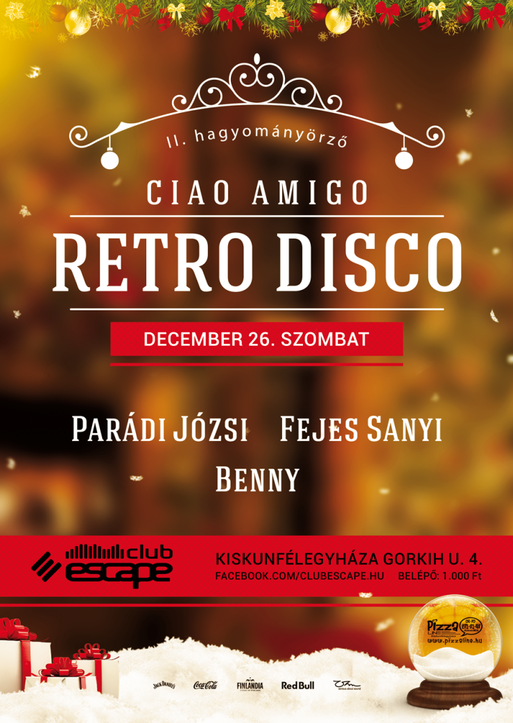 Facebook 2015 12 26 Ciao Amigo Retro Disco Escape